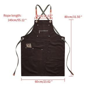Image 3 - 2020 Fashion Unisex Apron Coffee Shop Working Apron Cooking Antifouling Aprons Work Clothing Sleeveless Style Work Wear