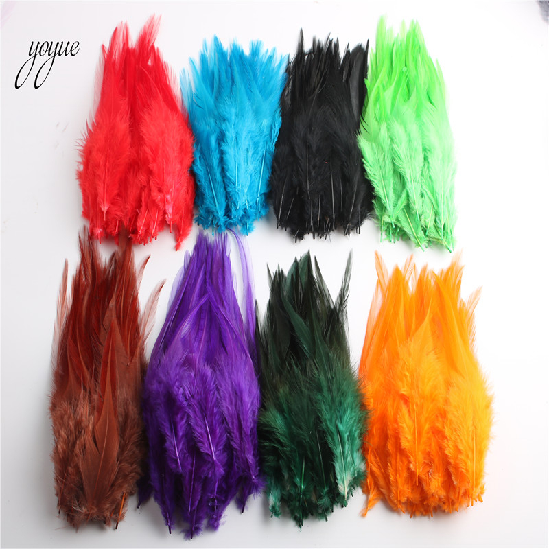 Wholesale 100pcs/lot High Quality Chicken Feathers For Crafts 10-15cm/4-6Inch Rooster Feather DIY Jewelry Accessories Plume