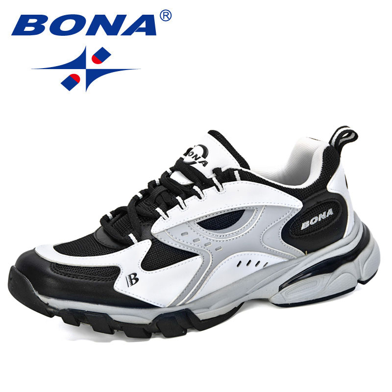BONA 2020 New Style Casual Shoes Men Brand Trend Solf Man Fashion Sneakers Leisure Shoes Male Outdoor Footwear Zapatillas Hombre