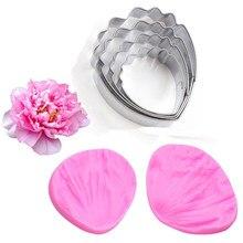2 pces/4 pces/6 pçs/set peônia veiner molde de silicone flor fondant cortador de flores gumpaste molde bolo ferramentas de decoração, sugarcraft molde