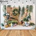 Mocsicka Весенний сад Пасхальный фон для фотосъемки кролик Декор Дети День рождения фото реквизит фон для студийной будки