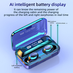 Image 4 - AIRVOLT F9 V5.0 Bluetooth 5.0 Earphones TWS Fingerprint Touch Headset HiFI Stereo In ear Earbuds Wireless Headphones for sport