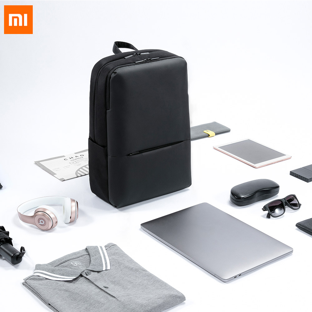 New Original Xiaomi Classic Business Backpack 2 Generation Level 4 Waterproof 15.6inch 18LOutdoor Travel Bag Laptop Shoulder Bag image