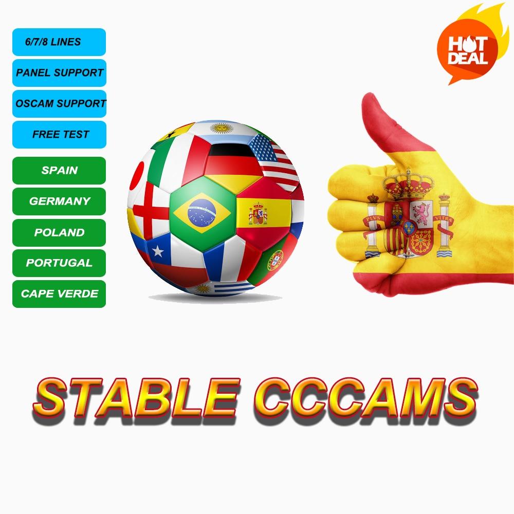 Stable CCcams Spain ServerPoland 4K Sky De HD+ Germany Sky Germany Portugal Poland  Decoder Europe DVBS2