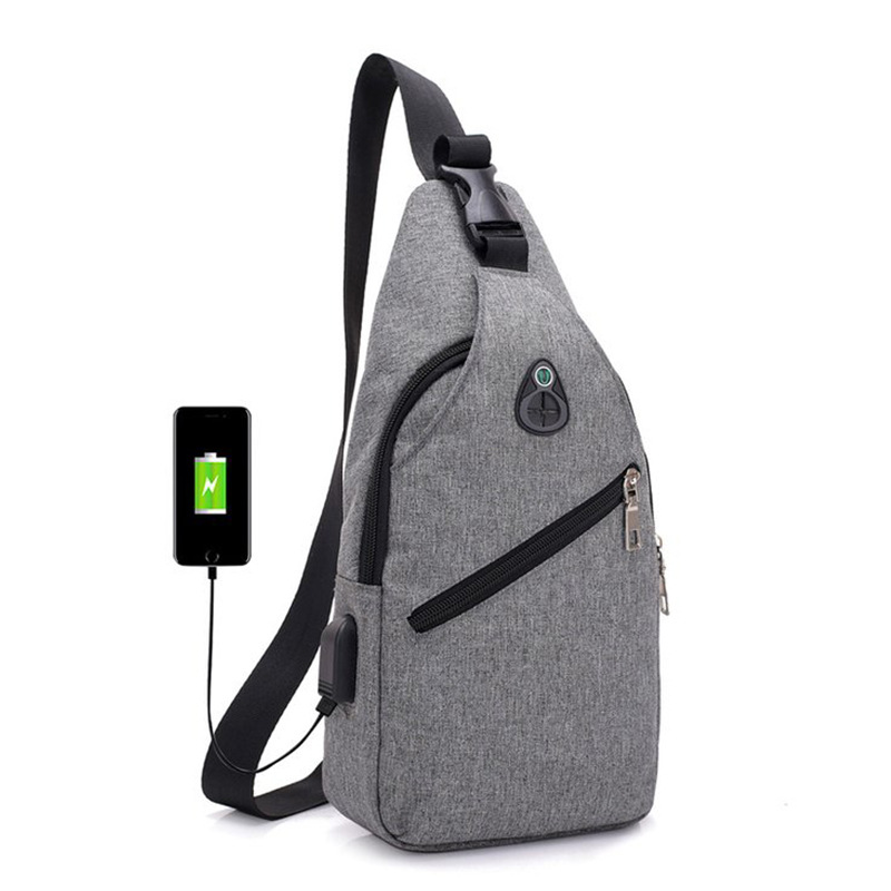 Korean-style New Style Casual Men Canvas Bag Sports Canvas Men's Chest Pack Multi-functional Outdoor Over-the-shoulder Bag