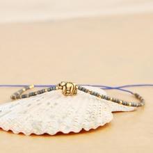 C.QUANCHI Unique Elephant Charm Friendship Bracelets Bangles Handmade Miyuki Seed Beads Trendy Wrap Bracelets Chain Bijoux