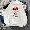 Disney 2021cartoon print sweatshirt women Funny hip hop Mickey Mouse print autumn and winter fashion Harajuku style hoodie women 6