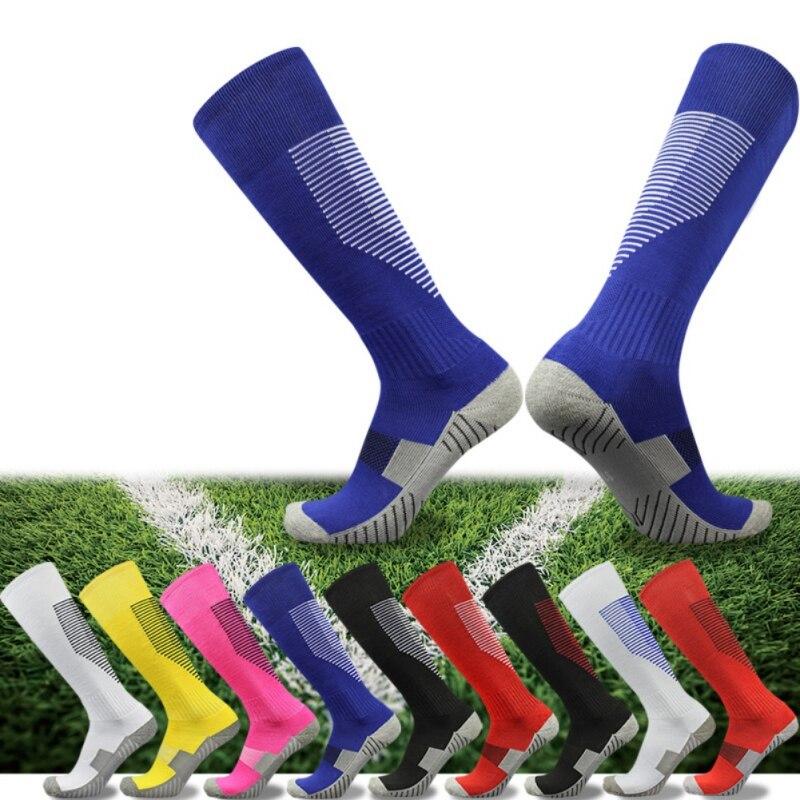 Adult Kids Professional Sports Soccer Socks Non-slip Knee High Football Sock Thickening Towel Bottom Sweat-absorbing Breathable