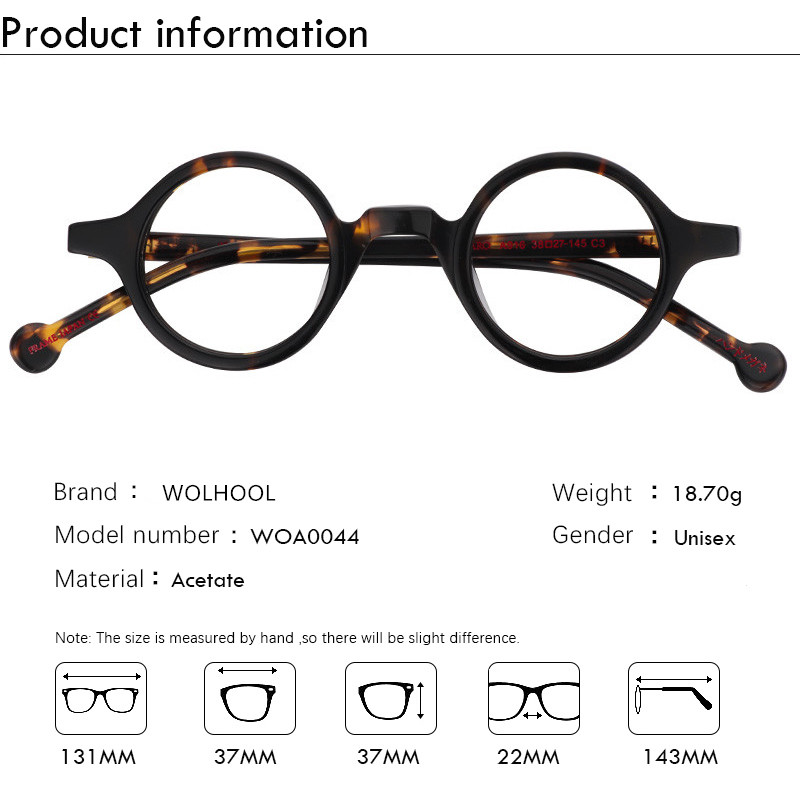 Image 5 - Acetate Round Fashion Glasses Men Harry Retro Glasses Frames Fake Glasses with Clear Lens Women Optical Spectacle FrameWomens Eyewear Frames   -