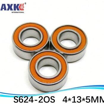 Stainless steel hybrid ceramic ball bearing S624 2RS S624C-2RS CB ABEC7 LD S624 2OS S624C-2OS 4*13*5 MM Fishing reel bearing
