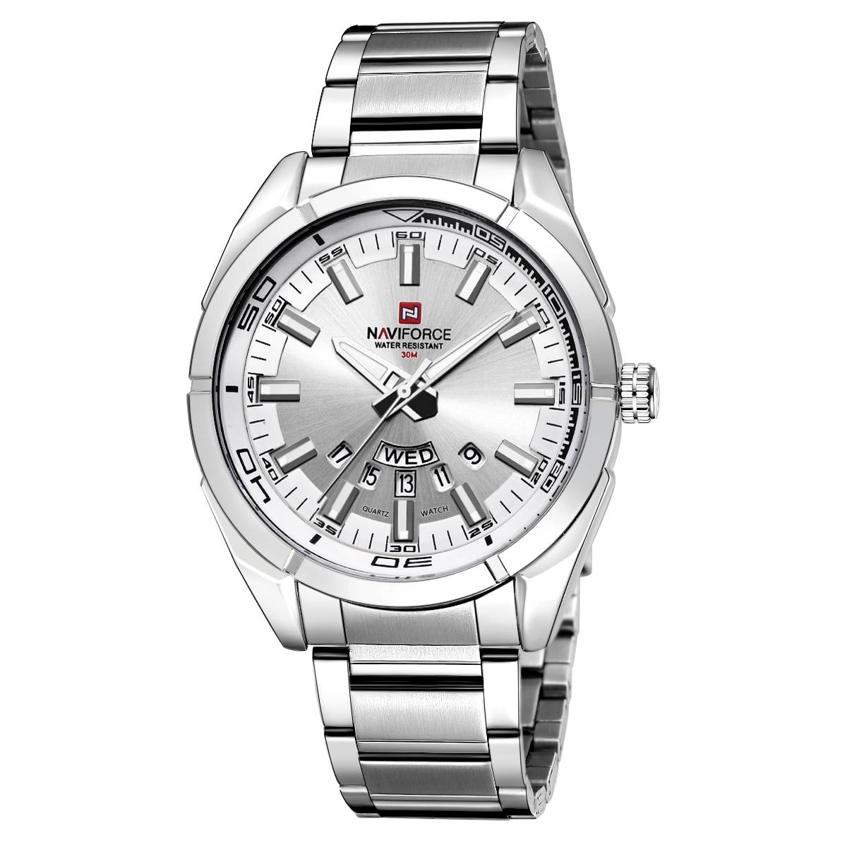 NAVIFORCE Brand Men Watches Business Quartz Watch Men's Stainless Steel Band 30M Waterproof Date Wristwatches Relogio Masculino 2