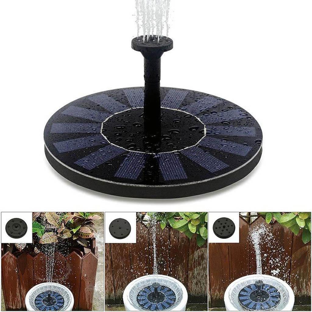 4 насадки, мини-насос для водяного фонтана на солнечной энергии