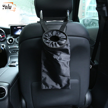 YOLU Car Trash Bag Garbage Can Dust Rubbish Bin Box Auto Seat Back Hanging Black/Blue/Red/Orange/Yellow/Pink/Rose Red