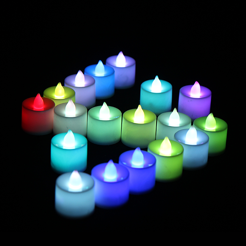 24pcs Led Electronic Candle Moving Smokeless Flameless Decorative Candles Light Lamp Battery Operated For Wedding Birthday Party