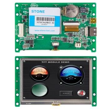 4,3-дюймовый HMI ЖК-экран модуль с сенсорным + контроллером + Драйвер + программа Поддержка любого микроконтроллера
