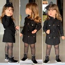 Новинка, куртка для маленьких девочек топы с длинными рукавами для маленьких девочек, плащ с длинными рукавами ветровка, Куртка Верхняя одежда, парка