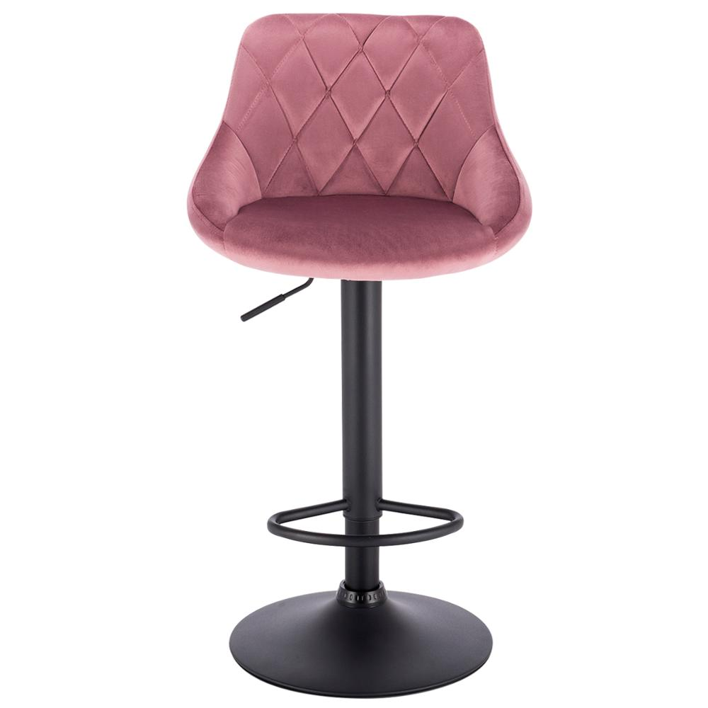 1PC Height-Adjustable Swivel Bar Chairs Leather/Velvet Rotating Bar Stool Lifting High Stool With Footrest For Bar Home Decor