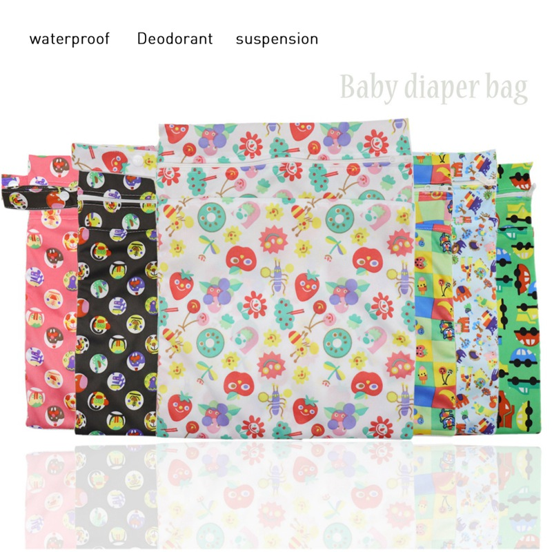 Colors# Waterproof Wet Kid Baby Bag Dry Multi Zipper Cloth Boys Nappy Diaper