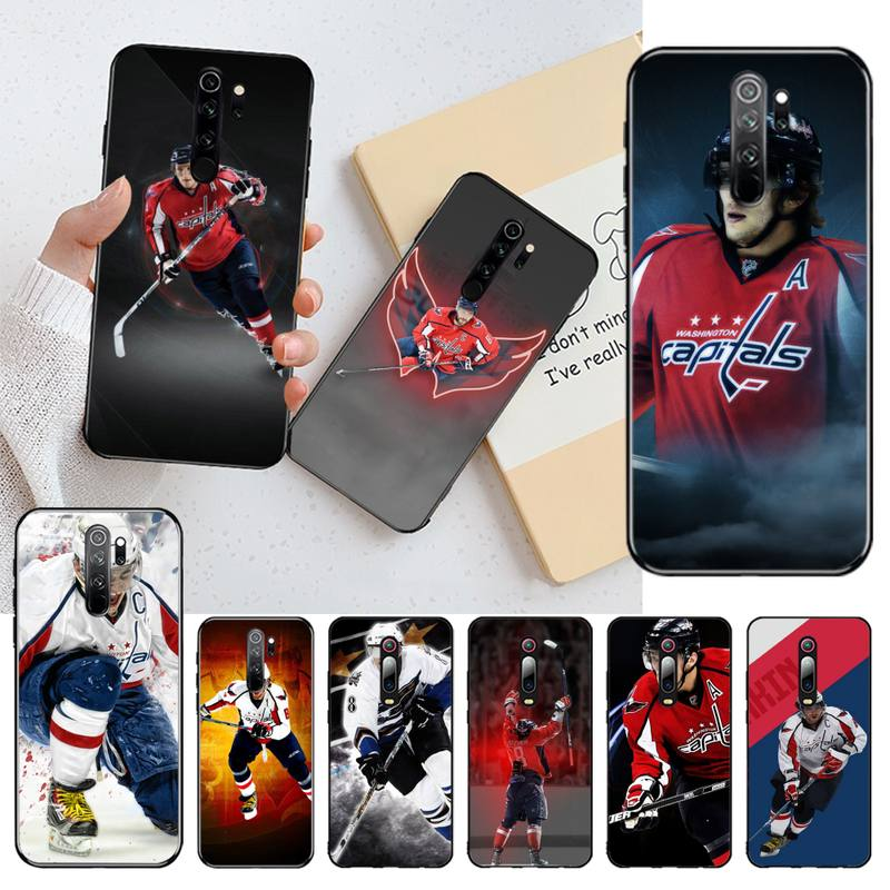 HPCHCJHM Alexander Ovechkin Nhl Star Hockey DIY Luxury Phone Case for Redmi Note 8 8A 7 6 6A 5 5A 4 4X 4A Go Pro Plus Prime(China)
