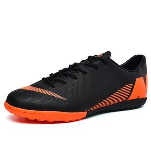 Image 3 - Fußball Schuhe Gebrochen Nägel Atmungsaktive Lace Up Tragen Dämpfung Nicht slip Low Mode Bequemen männer turnschuhe