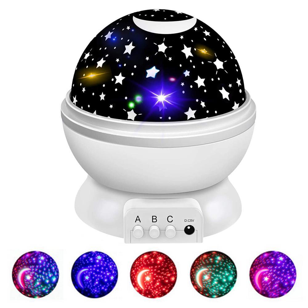 Светодиодный проектор, звезда, Луна, галактика, ночник для детской комнаты, неба, вращающееся украшение для спальни, детский ночник, детская ...