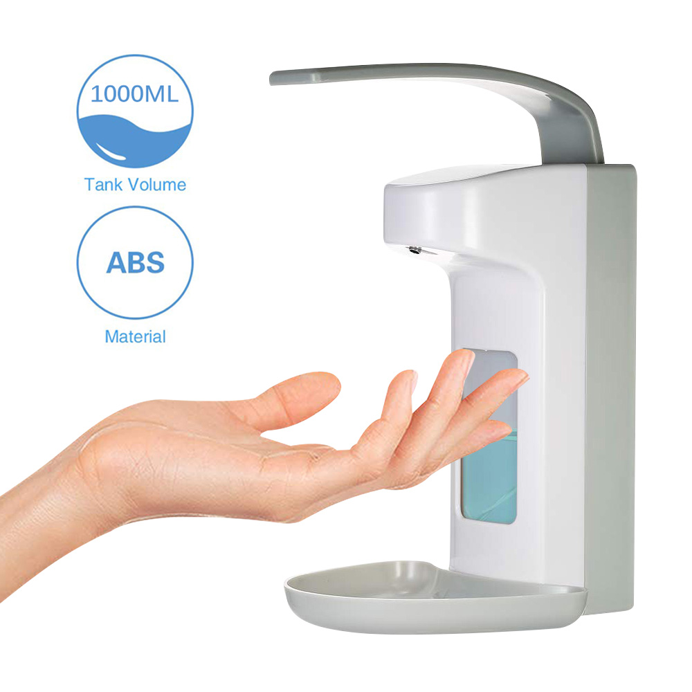 1000 Ml Wall Dispenser Wall Mounted Bathroom Liquid Soap Dispenser Soap Bottle Dispenser Disinfection Dispenser Plastic Pump