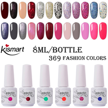 70Pcs/lot Kismart Soak Off UV LED Nail Gel Polish Total 369 colors The Best Quality Gel Polish For Salon UV Gel Polish