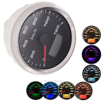 7 farbe Lichter GPS Tacho Gauge Wasserdichte Motorrad Auto Boot Digital Tacho Gauge 120 km/h 200 km/h mit GPS Antennen