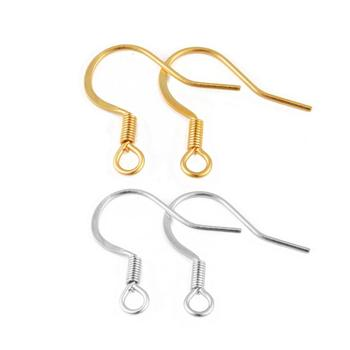 50pcs/lot Gold/Silver Color Stainless Steel Earring Hooks Earrings Clasps With Spring Earring Wires For Jewelry Making Supplies 50pcs lot irfr5505trpbf fr5505