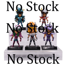 где купить 5 pcs/set High Quality Anime Saint Seiya Knights of the Zodiac Action Figure PVC Figurine Collectible Model Christmas Gift Toy по лучшей цене