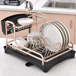 Dwuwarstwowy demontaż Dish Rack Drainer wielofunkcyjna taca na naczynia zastawa stołowa spinacze do prania przechowywanie narzędzi kuchennych uchwyt|Uchwyty i stojaki|   -