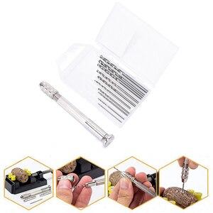 Metal Hand Drill Equipments Uv Resin Mold Tools And Handmade Jewelry Tool With 0.8mm-3.0mm Drill Screw (10pcs Twist Drill)