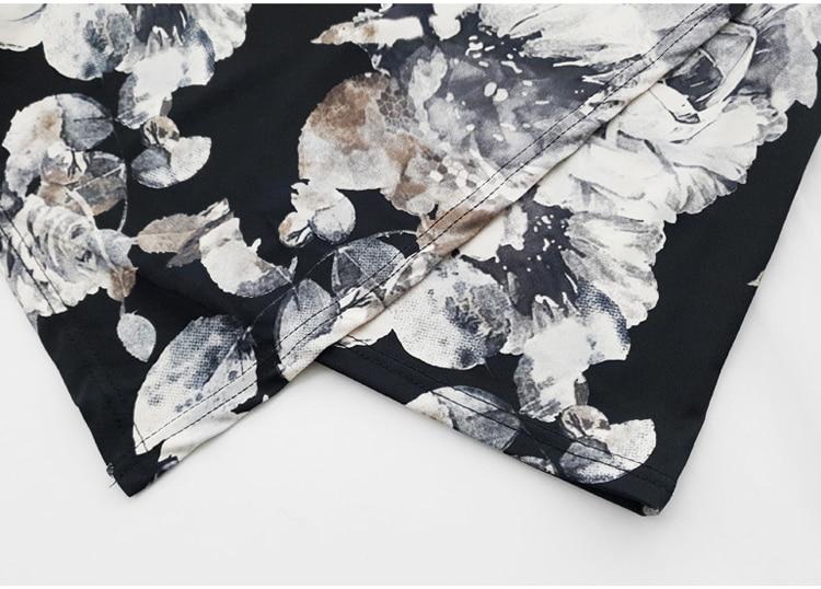 Floral Print Half Sleeve Sheath Knee-length Dress 13