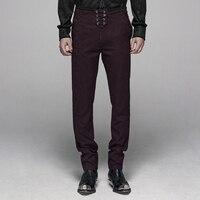 PUNKRAVE Men's Gothic Floral Metal Swallow Decorations Suit Trousers Elegant Slim Fit Formal Wedding Party Dress Long Pants