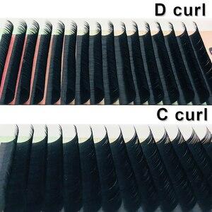 Image 2 - MASSCAKU 16 рядов, 8 ~ 15 мм микс, высококачественные норковые ресницы для наращивания, индивидуальные ресницы для наращивания, натуральные ресницы, накладные