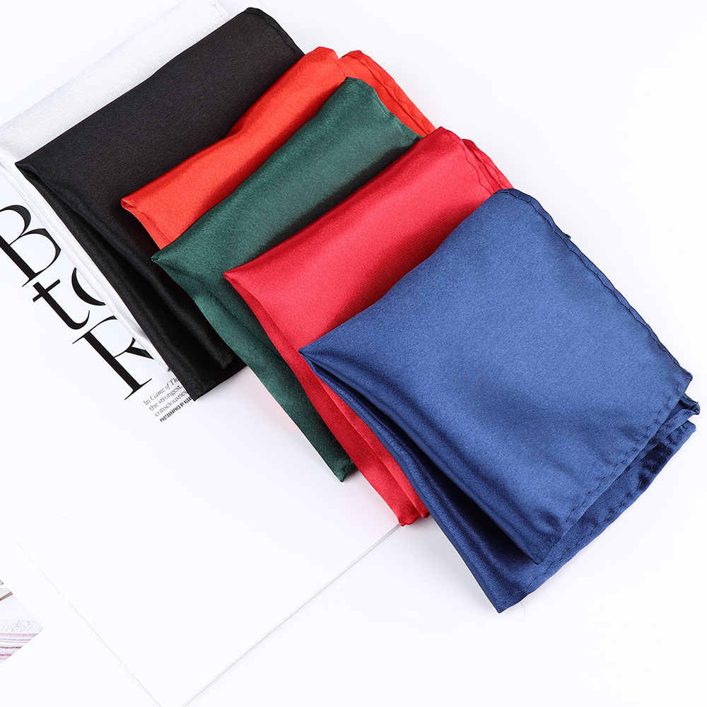 Pañuelo blanco Hombre traje Toalla de bolsillo accesorios boda banquete aniversario comercial negro rojo azul cuadrado bufanda