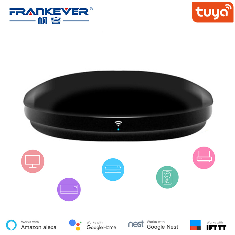 FrankEver Smart IR Remote Controller All in One WiFi IR Blaster Controller Universal Repeater Hub Work with Alexa Tuya APP image