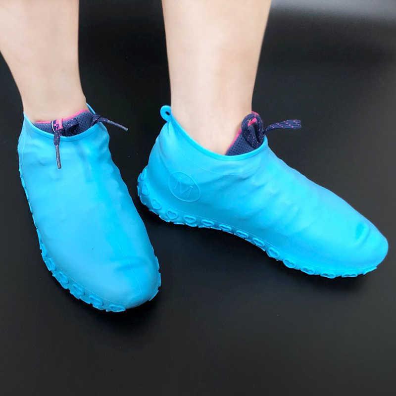 รองเท้า Unisex Protector Rain ในร่ม Anti Slip รองเท้าแบบพกพากลางแจ้ง Rainy Days ฝุ่นกันน้ำซิลิโคนรองเท้า