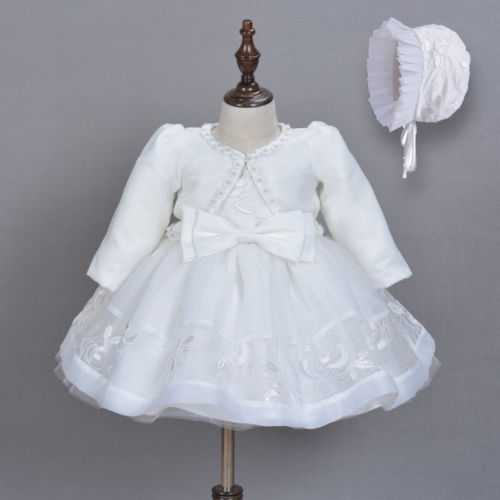 3pcs Baby Girls Princess Gown Dress Lace Christening Wedding Birthday Pageant Party Bridesmaid Formal Dresses Clothes