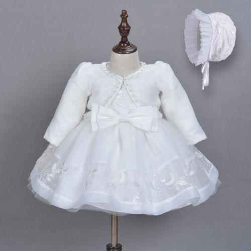 Robe de princesse en dentelle pour petites filles, 3 pièces, pour baptême, fête d'anniversaire, spectacle, demoiselle d'honneur, vêtements formels