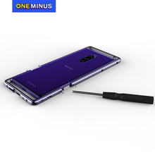 Luxury Metal Bumper for Sony Xperia 10 II Case 1 II  Cover Double Color Aluminium Frame Protective Cover for Xperia 1 Frame Bag
