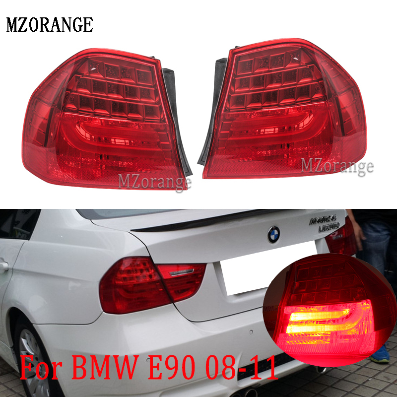 Tail Light For BMW 3 SERIES E90 2008 2009 2010 2011 63217289425 63217289426 Led tail brake stop lamp taillights fog light image
