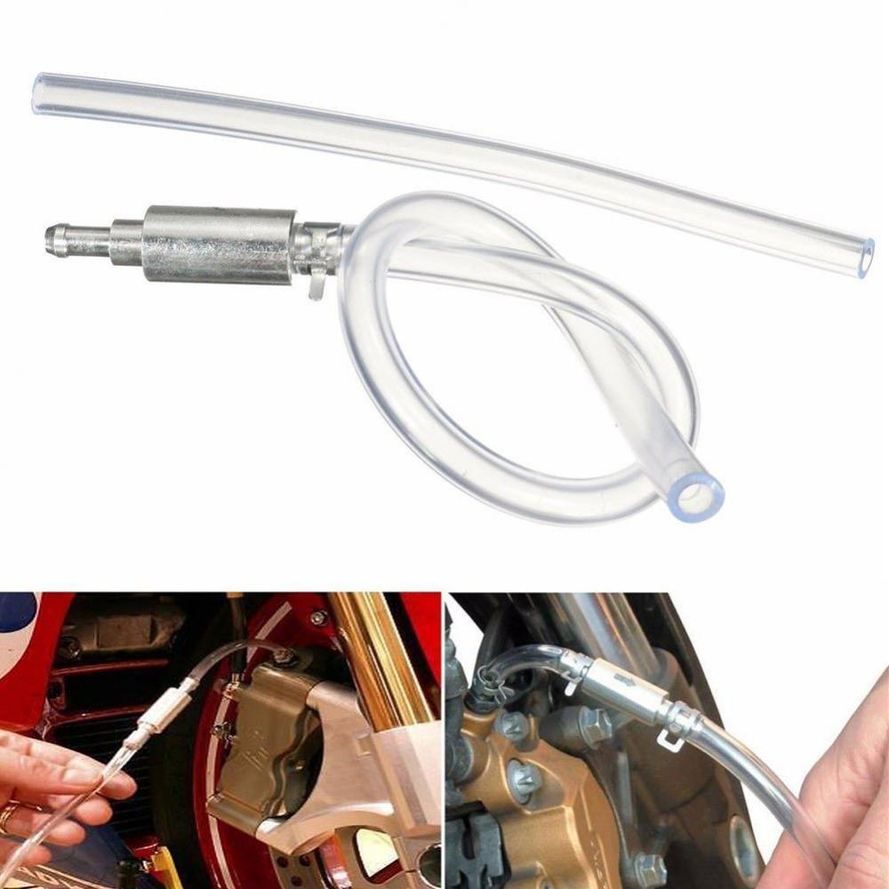 Car Hydraulic Brake Bleeder Clutch Tool Adapter Hose Kit One Way Valve Oil Pump Adapter Hose For Auto Motorcycle RV ATV Quad Etc