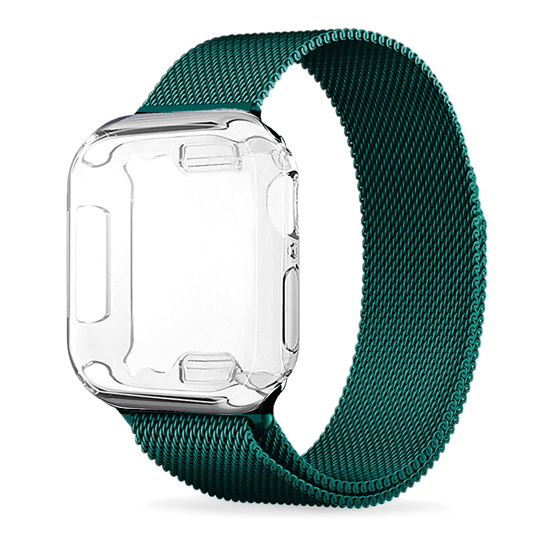 TPU case Milanese Loop Strap For Apple Watch Band series 5 44mm 38mm Bracelet Stainless Steel for iwatch 4 3 40mm 42mm watchband image