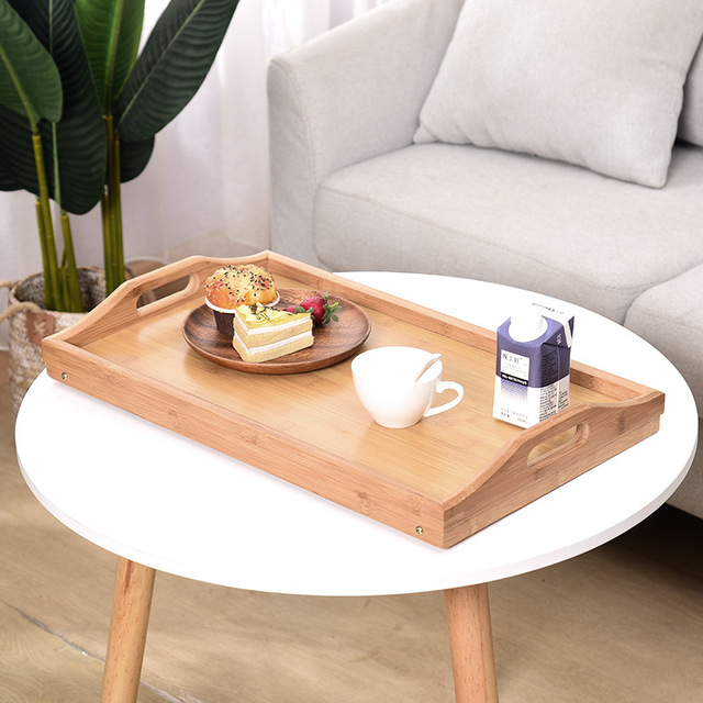 Wooden Portable Foldable Computer Laptop Desk Adjustable Notebook Desk Table Bed Sofa Breakfast Tray Picnic Table Studying Table 5