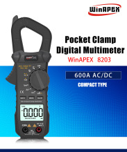 New DC AC Current 600A Digital Clamp Meter Multi-function multimeter Testr With Voltage resistance capacitor voltage detector