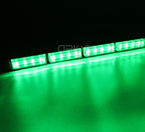 Image 5 - Barra de luz LED estroboscópica para coche y camión, 16 luces LED de emergencia de 48W de alta potencia, intermitente, lámpara de advertencia, ámbar, rojo, azul, verde, 12V, 24V