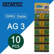 10 шт./карта 30 мАч 1,55 в AG3 392A L736 LR41 392 384 SR41SW CX41 192 AG 3 кнопки батареи для часов игрушки пульт дистанционного управления батарея для монет
