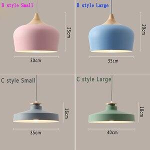 Image 3 - Lampe suspendue au design nordique, ampoules E27, idéal pour un Restaurant, un café, un Bar ou un macaron