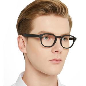 Image 3 - MARE AZZURO 빈티지 라운드 안경 프레임 클리어 렌즈 컴퓨터 안경 남성/여성 광학 스펙터클 프레임 처방 안경